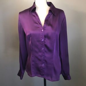 Investments Purple Button-Down Top